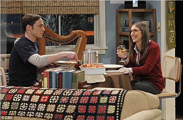 TV star: Bialik in The Big Bang Theory with co-star Jim Parsons