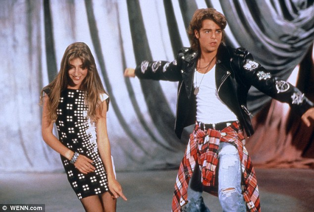 On the small screen: Seen here in her Nineties sitcom Blossom with Joey Lawrence