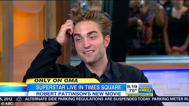 Uncomfortable: R-Patz said he never went into the movie industry to 'sell his personal life' as he avoided addressing the hot topic of conversation - his cheating girlfriend Kristen Stewart