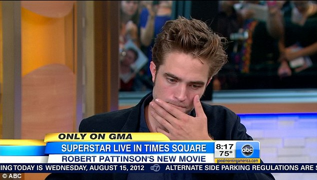 A struggle: This morning Robert appeared on Good Morning America and stumbled through a clumsy interview