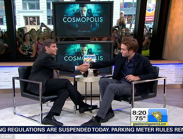 Elephant in the room: The 26-year-old actor was interviewed by George Stephanopoulos who asked him how he was doing after presenting him with a box of Cinnamon Toast Crunch cereal
