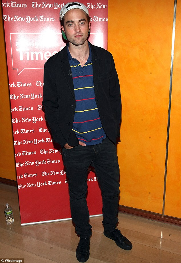 Cool customer: Resilient Robert Pattinson attended the TimesTalks Presents: David Cronenberg and Robert Pattinson at The Times Center in New York this evening