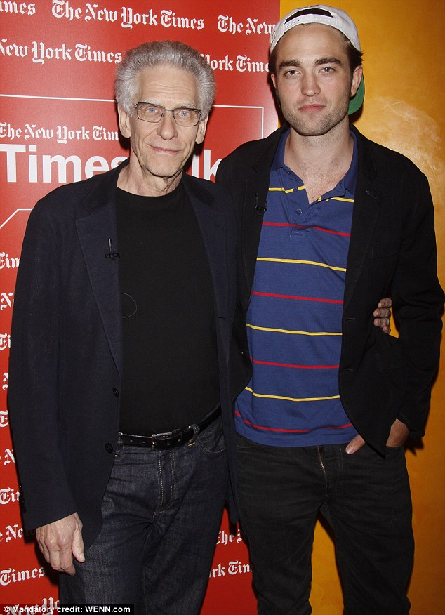 Support: Robert was joined by Cosmopolis director David Cronenberg at the event in their honour
