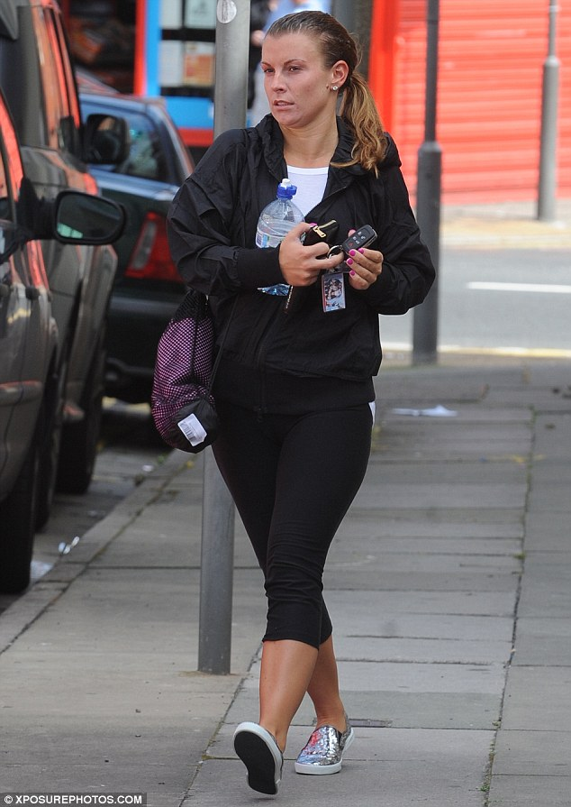 Secret of eternal youth: Coleen Rooney looked a lot like her 16-year-old self as she left a Bikram yoga class in Walton, Liverpool, today