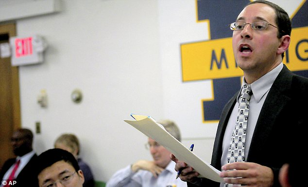 Hate: Shirvell, a University of Michigan alumnus, lost his job as an assistant attorney general in the wake of the uproar