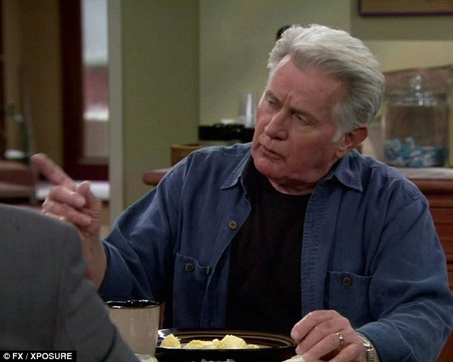 Veteran actor Martin Sheen was spotted swigging beer in three different scenes during filming of the sitcom