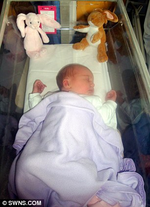 Just born: A one-day-old Poppy at Bournemouth Hospital