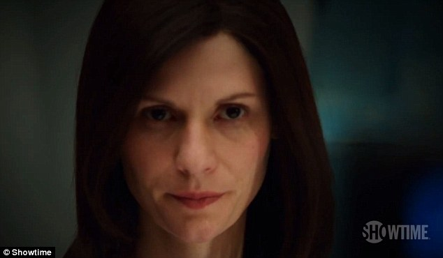 Going incognito: Claire Danes is back as Carrie Mathison - but disguises herself with brunette hair - in the Homeland Season 2 trailer