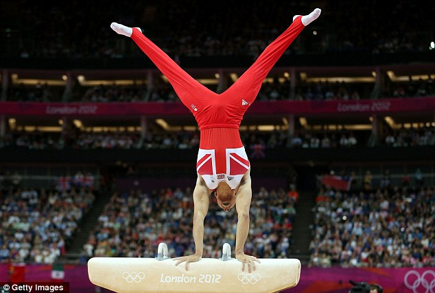 Stunning: Smith performing on the pommel horse during the London Olympics