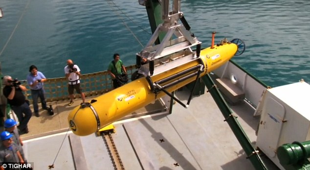 High-tech tool: Researchers used a torpedo-shaped Autonomous Underwater Vehicle to collect new data from the ocean floor