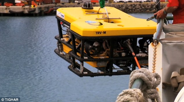 Deep-water shutterbug: TIGHAR scientists employed a Remote Operated Vehicle with four cameras on board, including a high-definition camera, to videotape the terrain