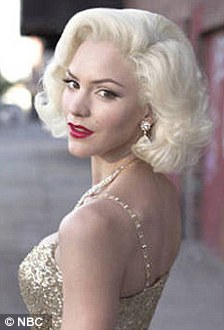 Bombshell: The show revolves around creation of a new Broadway musical based on the life of Marilyn Monroe, left, played by Katharine, right