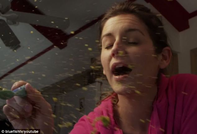 The joys of motherhood: The mother talks about how she's showered with food come feeding time