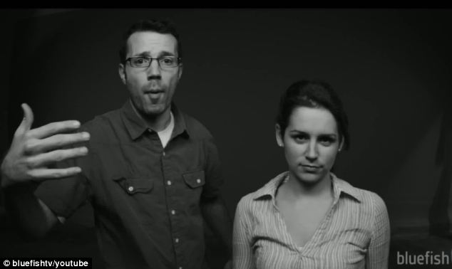 The couple begin their hilarious video by giving the camera a deadpan stare