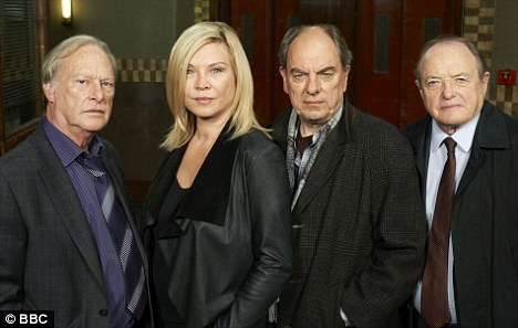 The old team: New Tricks stars, from left, Dennis Waterman, Alun Armstrong and James Bolam