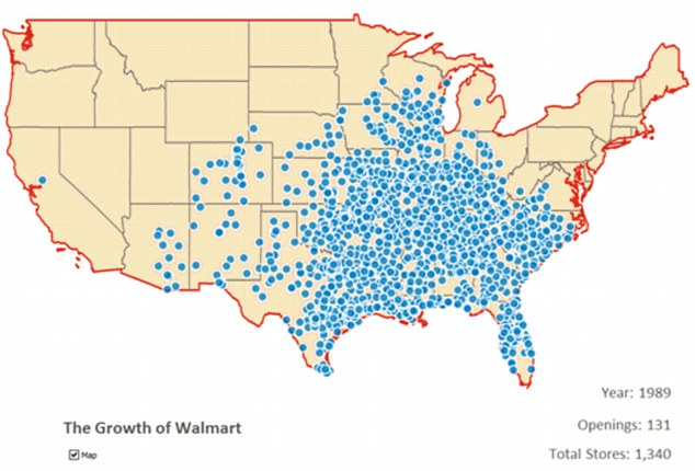 On the eve of the 1990s the Walton family had established a coast to coast retail empire
