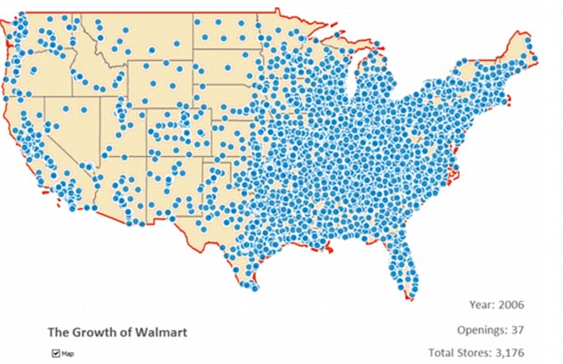 By 2006 the grocery and discount store giant had become the United States and the world's largest retailer