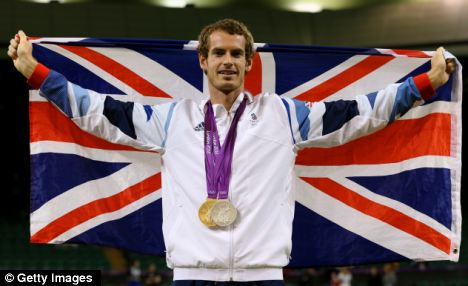 Andy Murray won a gold medal for the men's singles and a silver medal with Laura Robson for the mixed doubles