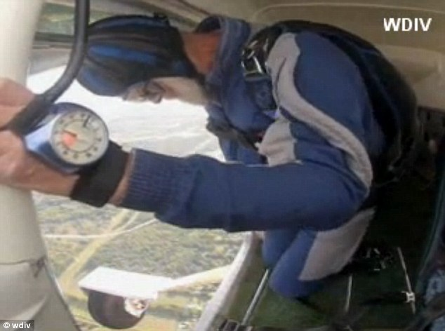 The plunge: Each jump started at around 2,000-feet high and took him approximately two and a half minutes to touch down