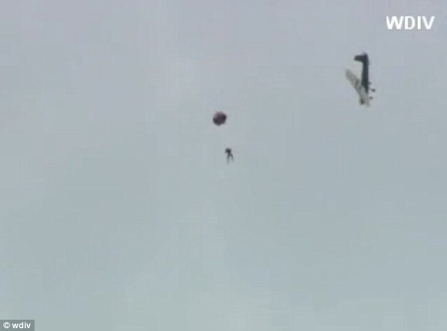 Preparation: It took him eight different parachutes to complete his jumps