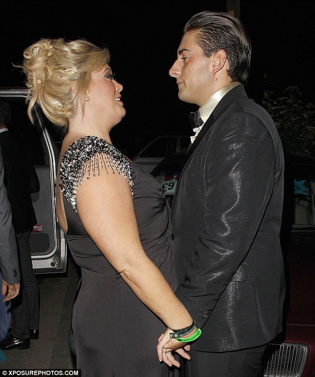 Special moment: Gemma and Arg were seen holding hands and having a chat as they waited for the rest of their co-stars