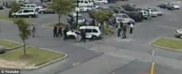 Shootout: The father and the son were killed in a shootout in a Walmart parking lot