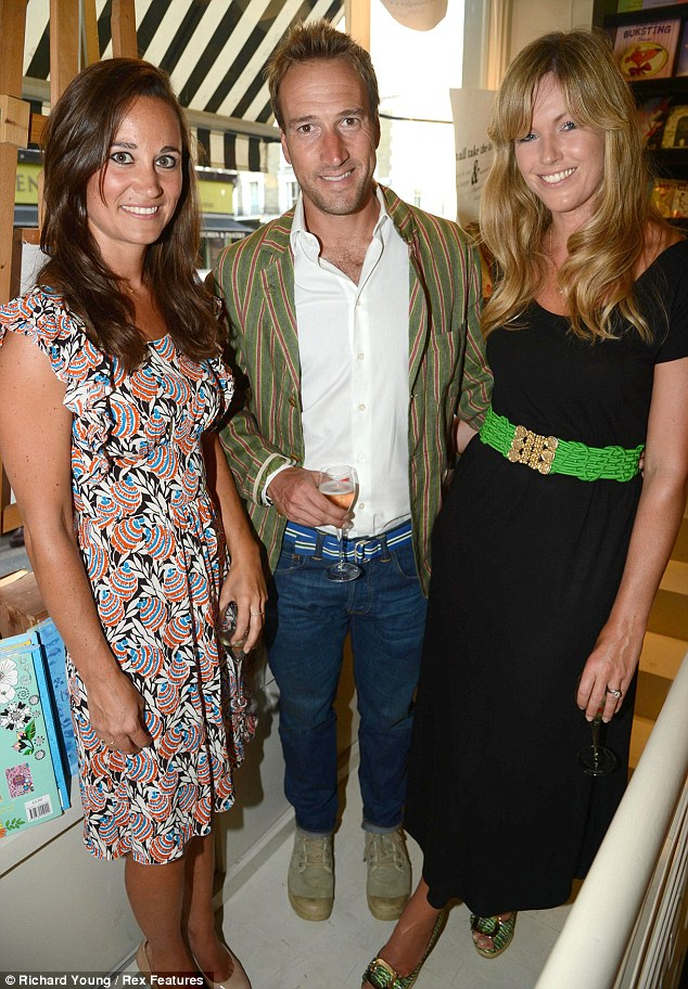 Book worms: Pippa Middleton joins  Ben Fogle and wife Marina Fogle at the launch of Ben's new book The Accidental Naturalist at Lutyens and Rubinstein last night
