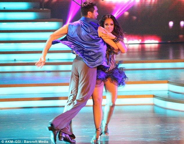 Showing off her moves: The dancer, who is David Schwimmer's cousin, is seen in action in the American show