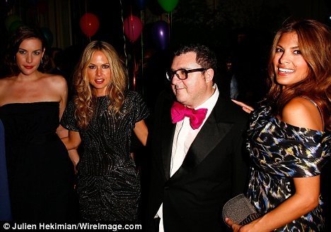 Celebrity clientele: Eva, pictured with Liv Tyler, Rachel Zoe and Alber Elbaz is one of Rachel's many famous clients