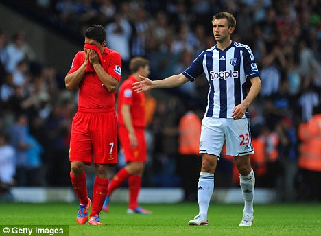 Slow start: Liverpool lost 3-0 at West Brom on the opening day