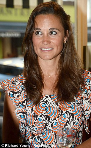 Pippa, who chose a brightly printed dress for the event, has been keeping a relatively low profile of late, only appearing a handful of times in public this summer