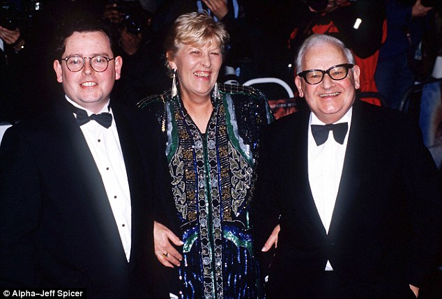 Family ties: Adam Barker (left) with his famous father (right) and mother in 1997. Both of his parents have since died