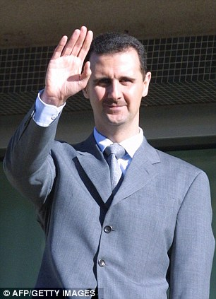 Threat: Syrian President Bashar Assad is said to be in control of a sizeable stockpile of chemical weapons