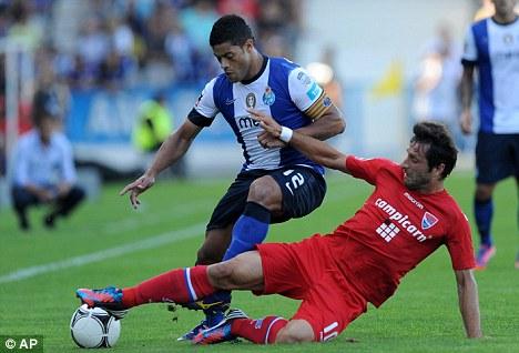 Option: Porto's Brazilian forward Hulk (left) remains on Chelsea's radar