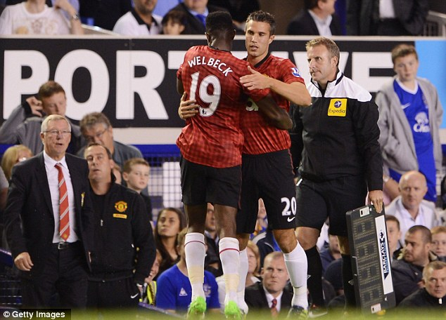 Under threat: Welbeck faces competition for a starting place from new signing Robin van Persie