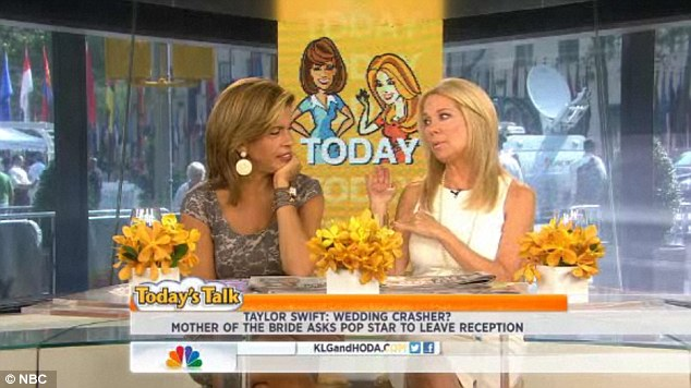 Weighing in: Kathie, appearing alongside co-host Hoda Kotb, was an invited guest at the Boston ceremony and said she witnessed Taylor and boyfriend Conor Kennedy there