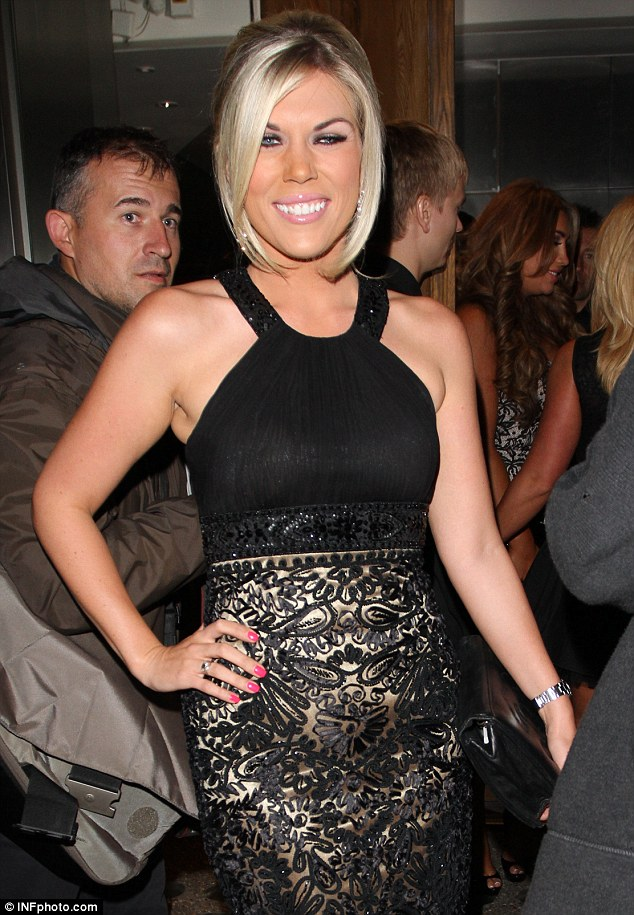 Looking reem: Frankie wore her hair in an up-do and teamed the dress with strapped black heels