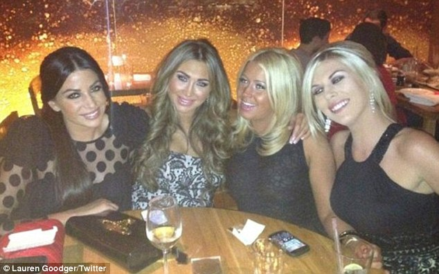 With her girls: Lauren was very active on Twitter last night thanking all her supporters as she prepares to move on from the reality show