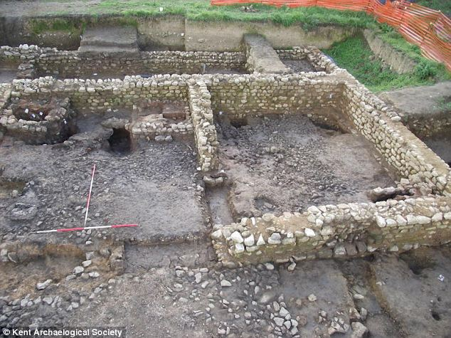 Dig: Discoveries have included the remains of a store room, two bread ovens, a cooking fire, a quern stone for grinding corn and a wall rendered, painted and decorated to imitate marble cladding