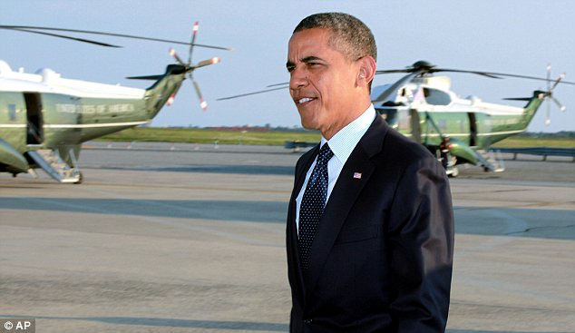 Favourite? A new Ap/GfK poll says that most Americans believe President Obama, pictured on Wednesday in New York, will win in November