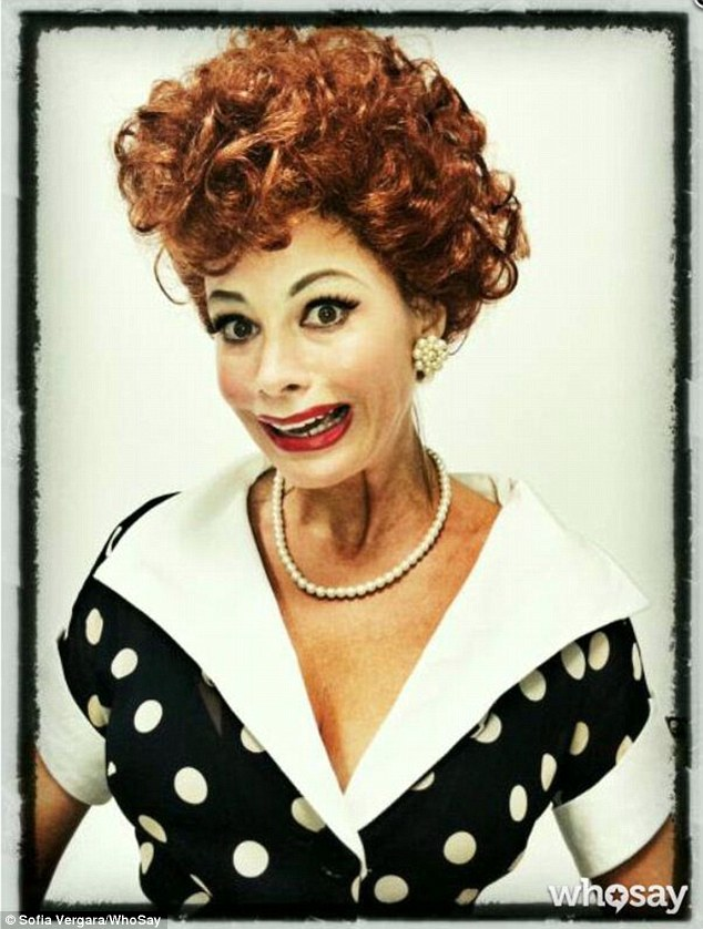 Guess who... Sofia Vergara uploaded a picture to her WhoSay account in which she channels Lucille Ball