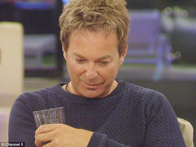 Deep in thought: Julian Clary looked serious when he found out he had been nominated