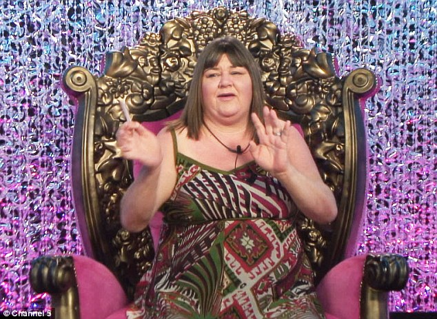 Nominated: Cheryl Fergison is one of the five Celebrity Big Brother contestants up for eviction on Friday
