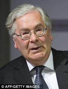 Governor Sir Mervyn King insists that without people in the United Kingdom would have been worse off had the Bank not acted