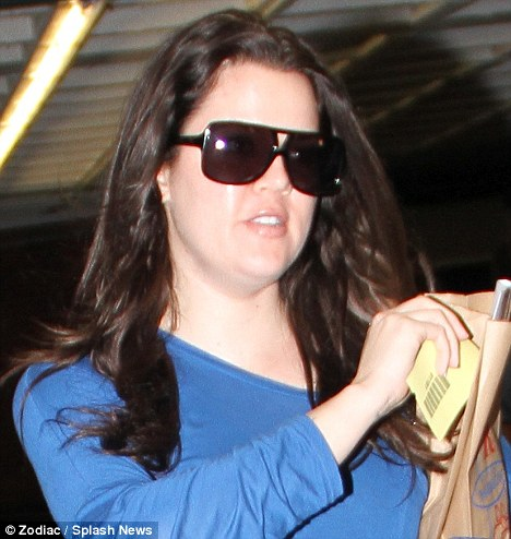 Bare-faced: The star looked like she had recovered from the previous day's car crash