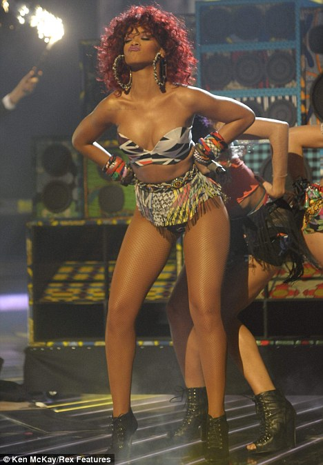 The Ofcom report comes after family shows such as X Factor caused public  outrage over sexualised performances by singers such as Rihanna (pictured)