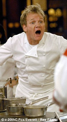 Foul-mouthed: Viewers think rants from stars like Gordon Ramsay (pictured) were too frequent