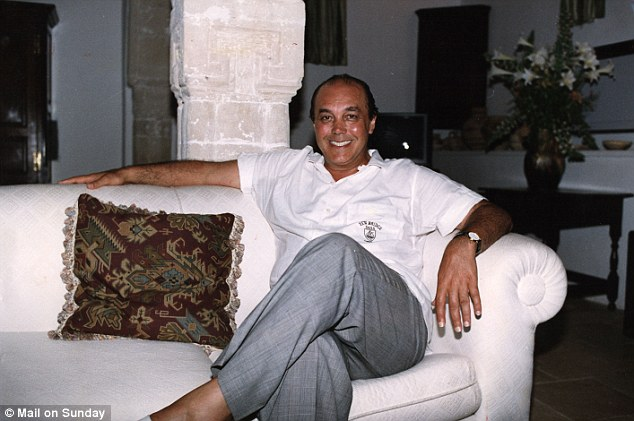 Tainted: Nadir, pictured here while on the run in Cyprus, donated the money to the Tory Party between 1985 and 1990 when Margaret Thatcher was Prime Minister