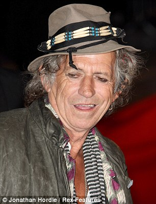 The legend: Keith Richards recently admitted his memory has failed him on some of The Stones hits