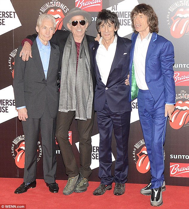 A month ago... The band looked fresh faced as they reunited to celebrate their 50 years at Somerset House